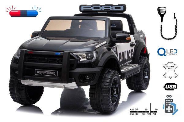 Elektro Kinderfahrzeug Polizeiauto 2-Sitzer Ford Raptor lizenziert