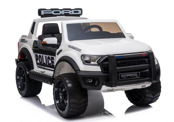 Elektro Kinderfahrzeug Polizeiauto 2-Sitzer Ford Raptor 2x45 Watt