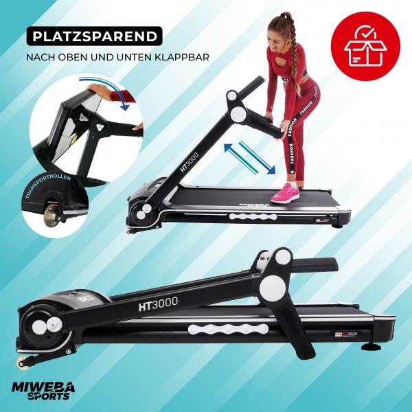 Sport-Laufband HT3000, Hometrainer, Fitnesstrainer - bis 16 km/h