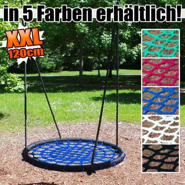Kinderschaukel, Netzschaukel, Rundschaukel, Tellerschaukel XXL 120cm