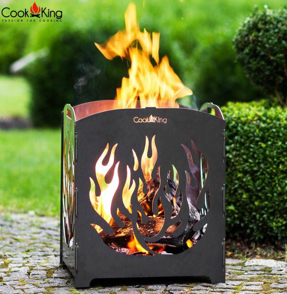 "Feuerschale CookKing ""Lago"" Feuerkorb Feuerstelle aus Stahl Handmade Höhe 42 cm"
