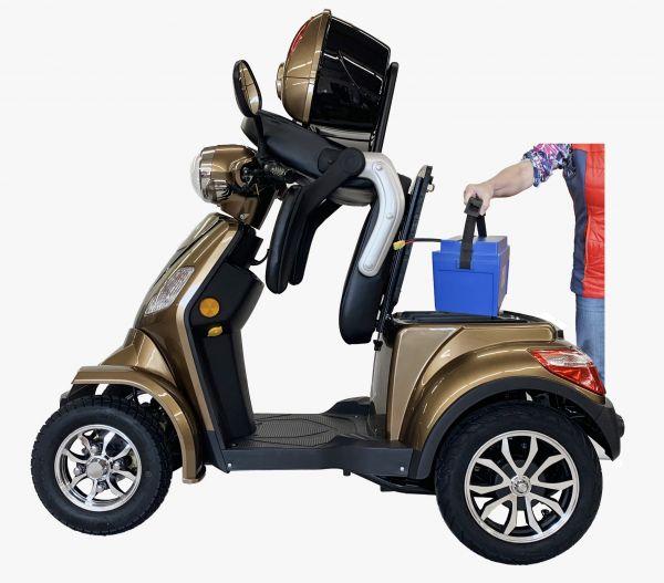 Ebilo 4 Rad Quick Seniorenmobil 20 km/h - Seniorenroller, Elektroroller