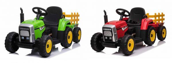 Elektro Kinderauto Traktor mit Anhänger
