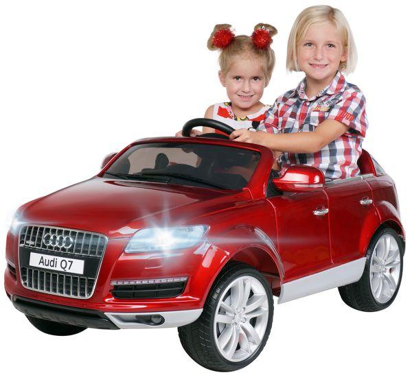 Elektro Kinderauto 2 Sitzer Audi Q7 metallic Rot lizenziert