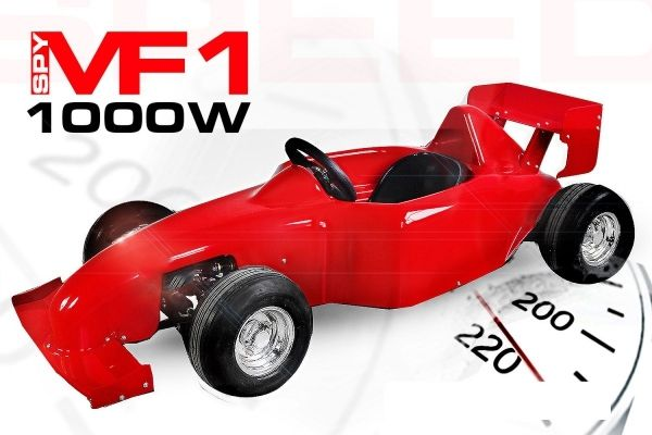 Kinder Elektro Rennwagen 1000 Watt, Elektrofahrzeug für Kinder, Sportauto bis 35 km/h