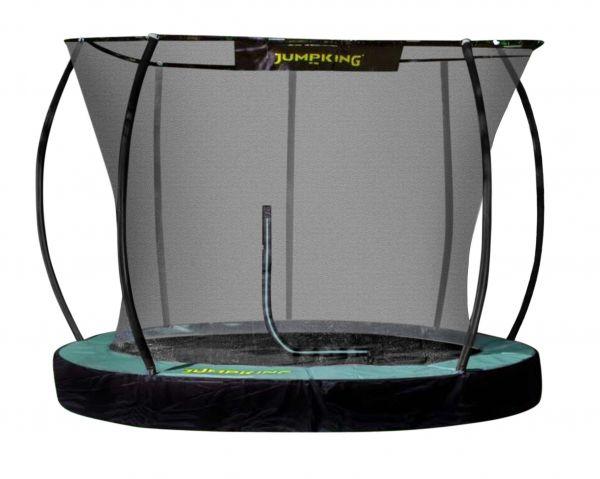 rundes Trampolin Jumpking Boden-Trampolin mit Netz in 3 Größen