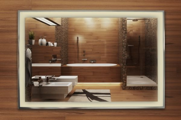 infranomic® Spiegelheizung Alurahmen 400 - 900 Watt inkl. LED