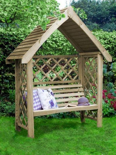 Oxford Pergola mit Bank - Gartenbank aus Holz - Pergola - Sitzecke
