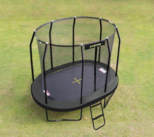 Ovales Trampolin Jumpking mit Netz in 3 Größen