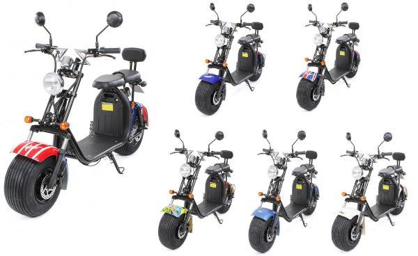 Elektroroller Scooter eFlux Chopper Two 1500 Watt
