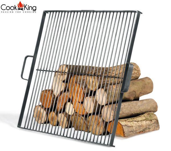 Zubehör Rost, Grillrost mit Griffen aus Stahl eckig für Feuerschale CookKing